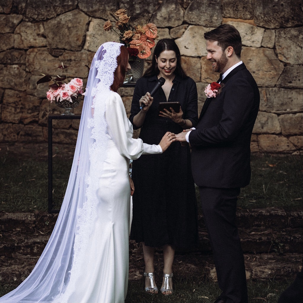 marriage celebrant perth with couple
